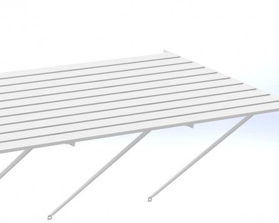 "Slatted Staging 35"" X 20ft White"