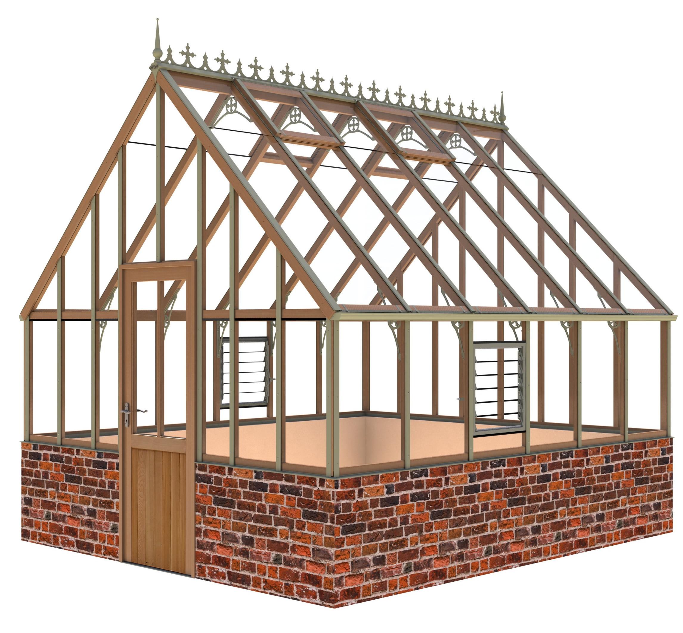 Alton Oakham Victorian (Dwarf Wall)Greenhouse