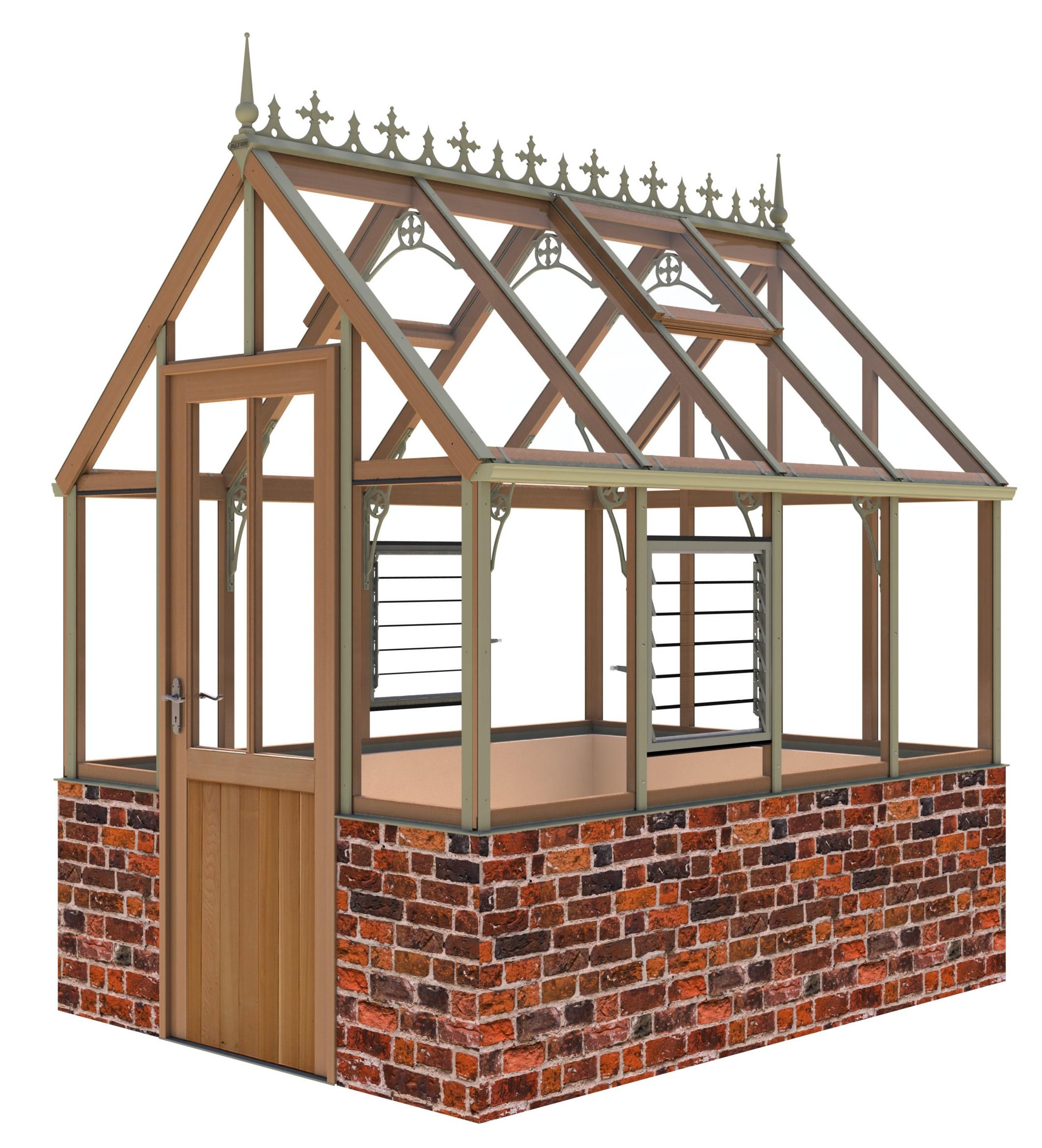Alton Eton Victorian dwarf wall Greenhouse