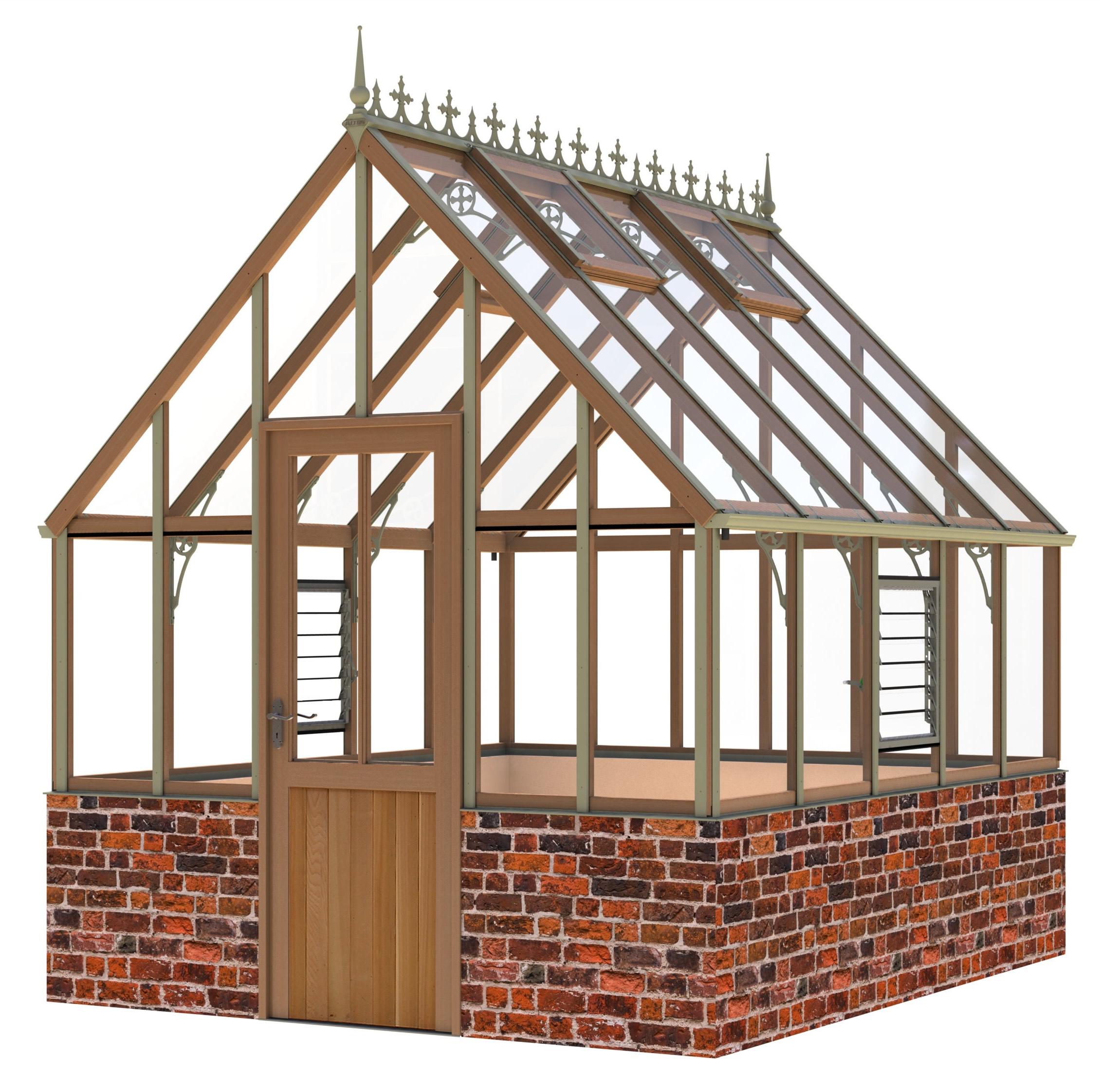Alton Ellesmere Victorian Dwarf Wall Greenhouse