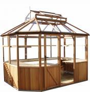 Alton Octagonal Cedar Greenhouse