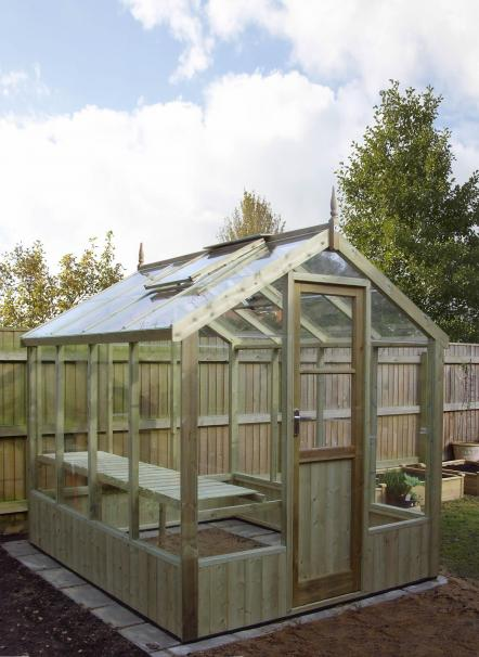 Swallow timber 6ft x 8ft greenhouse